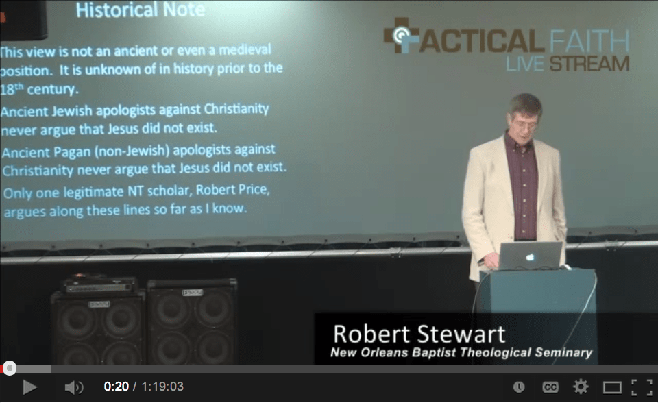 "Dr. Bob Stewart – ""Yes, Virginia, There is a Historical Jesus"""