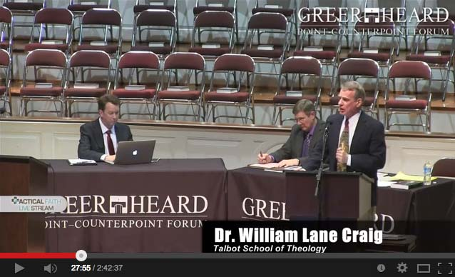 Sean Carroll debating William Lane Craig Video