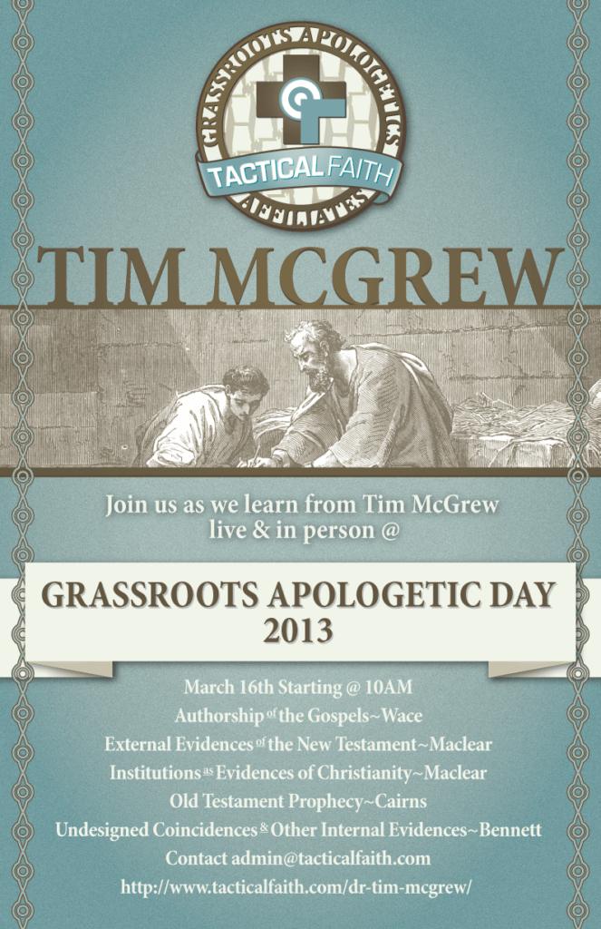 Tim McGrew 2013